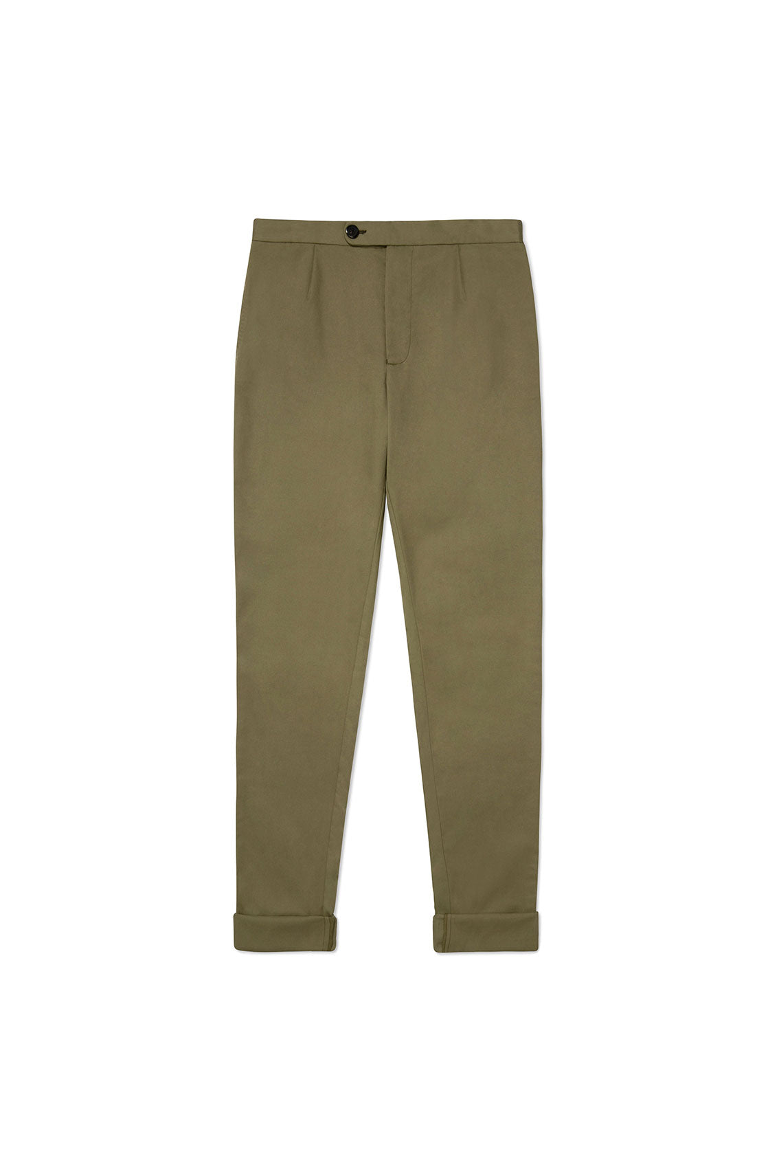P Johnson Green Cotton Tencel Drawstring Trousers