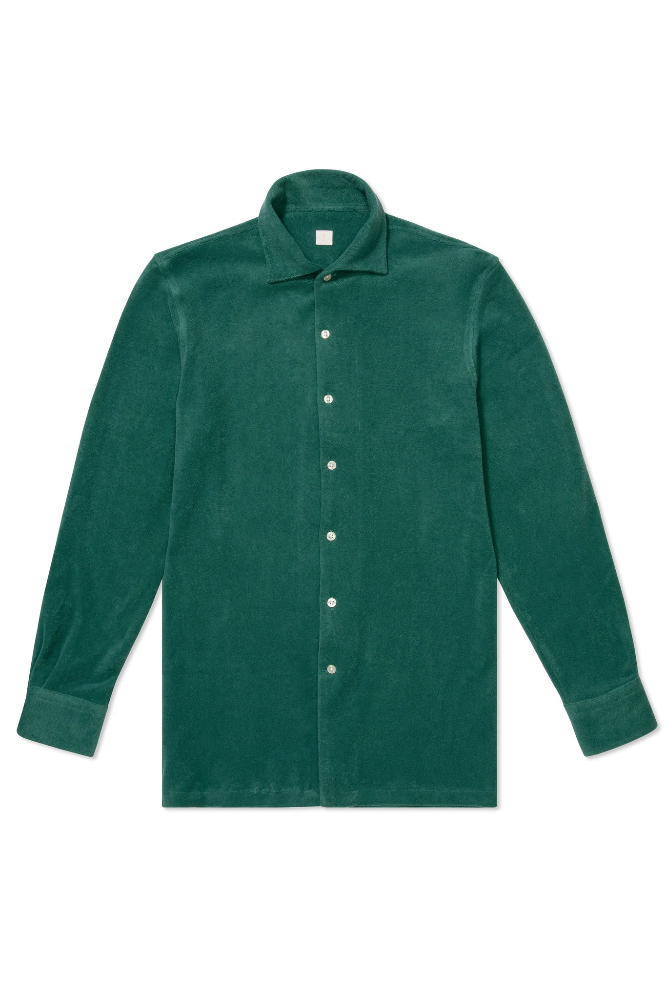 P Johnson Green Terry Towel Shirt