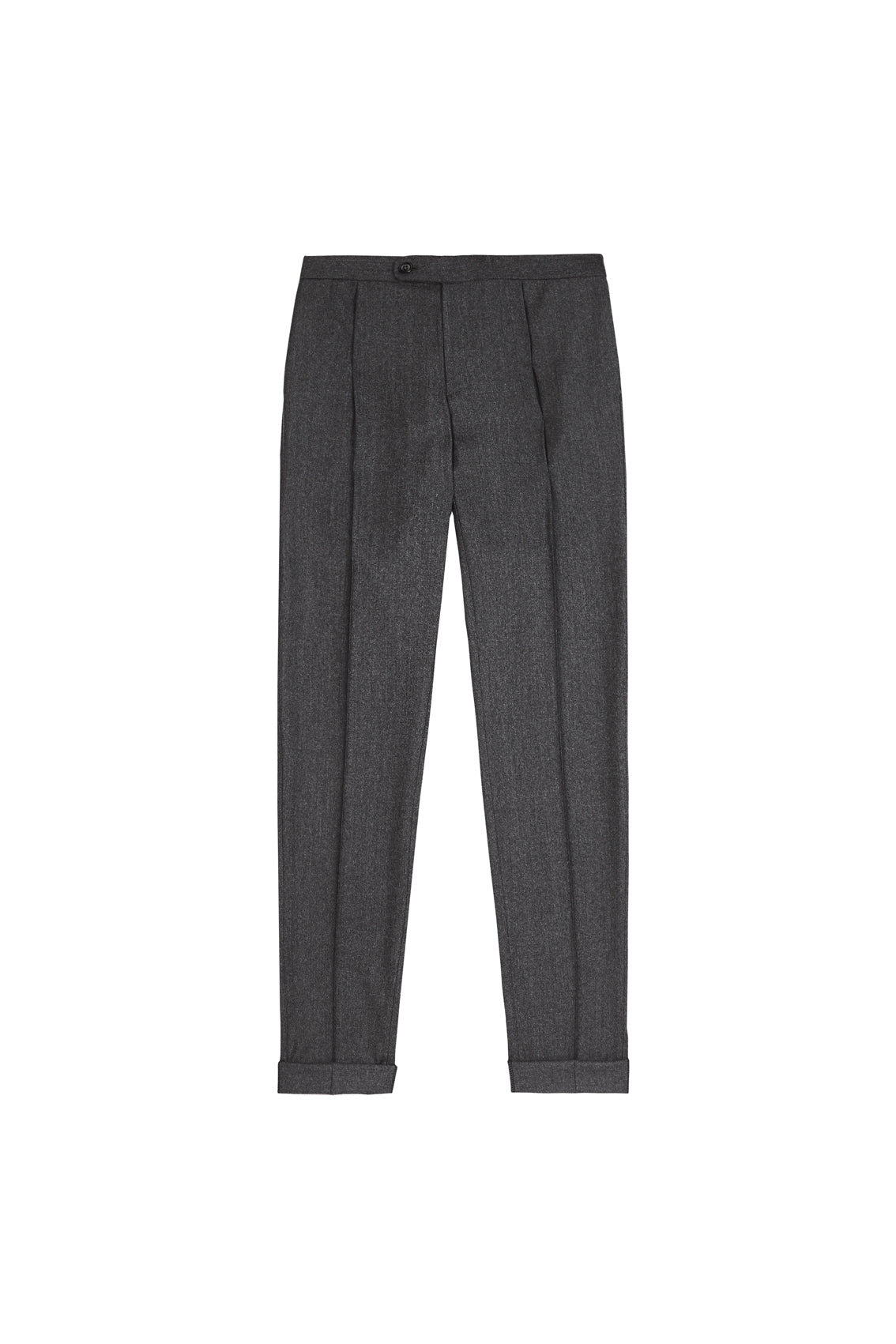 Grey Merino Cashmere Drawstring Trousers