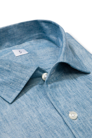 P Johnson Indigo Linen Shirt