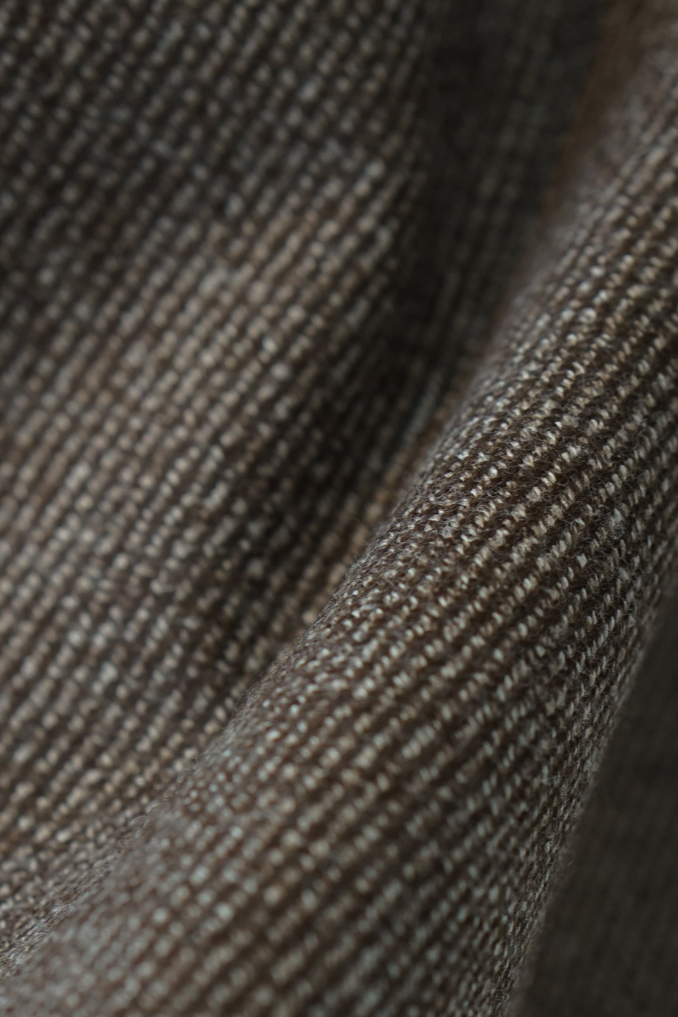 Brown Twill Merino Pecora Nera Jacket
