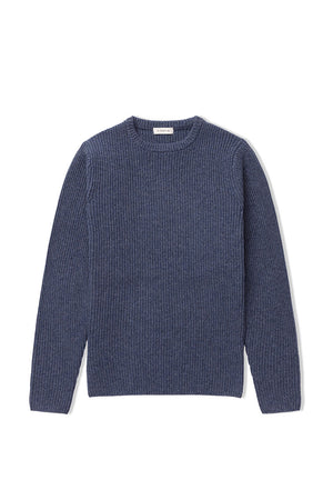 Slate Chunky Merino Cashmere Pullover