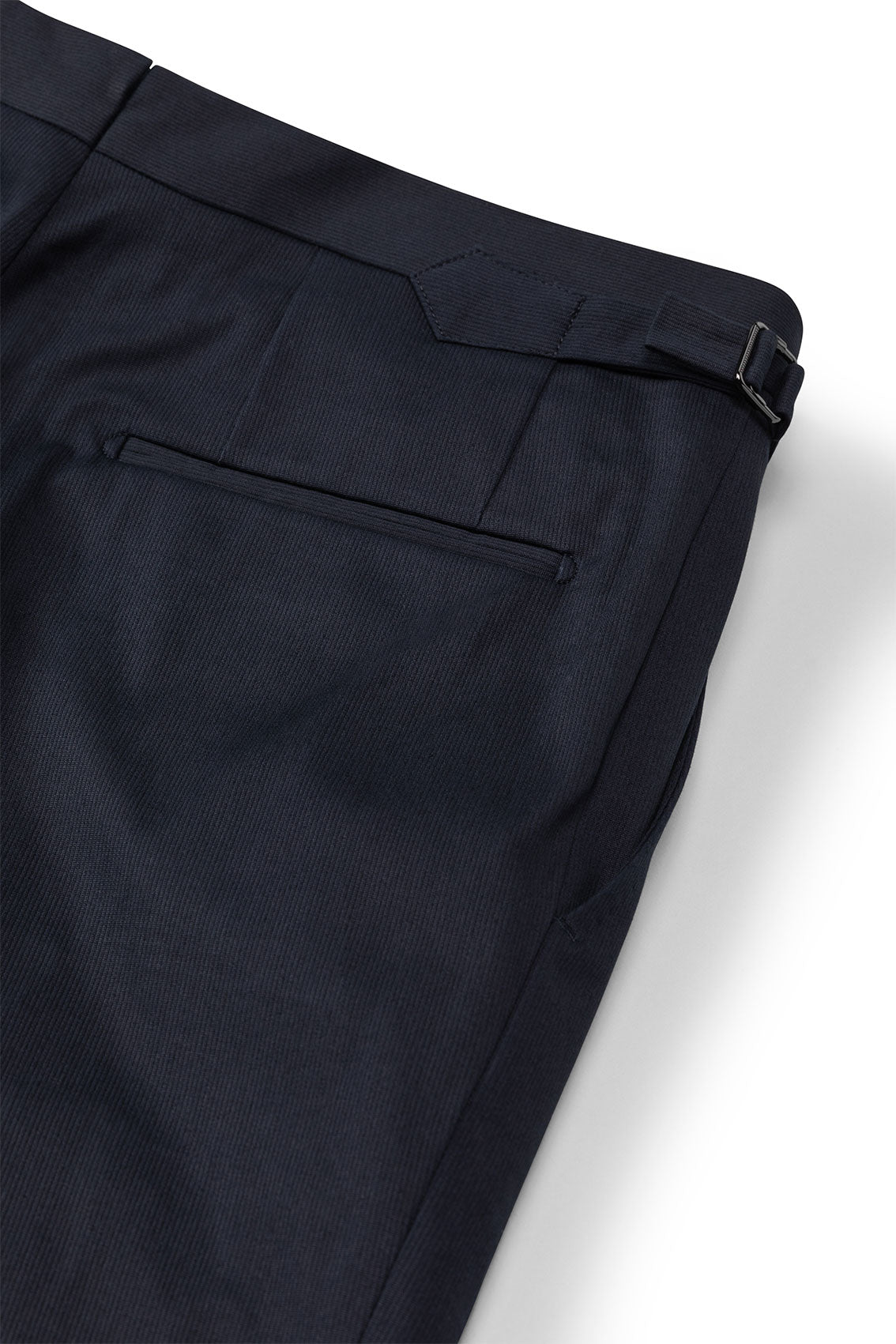 P Johnson Navy Pincord Tailored Trousers