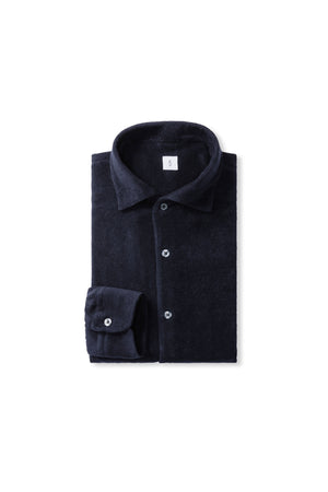 Navy Terry Towel Shirt