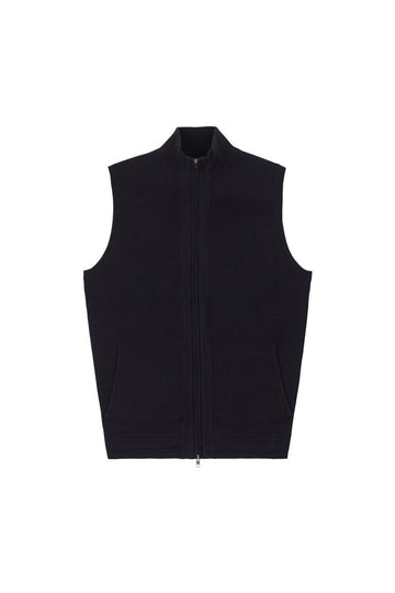 Navy Knitted Gilet