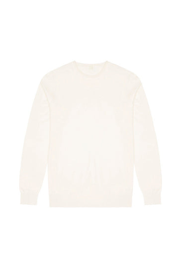 Off White Merino Wool Pullover