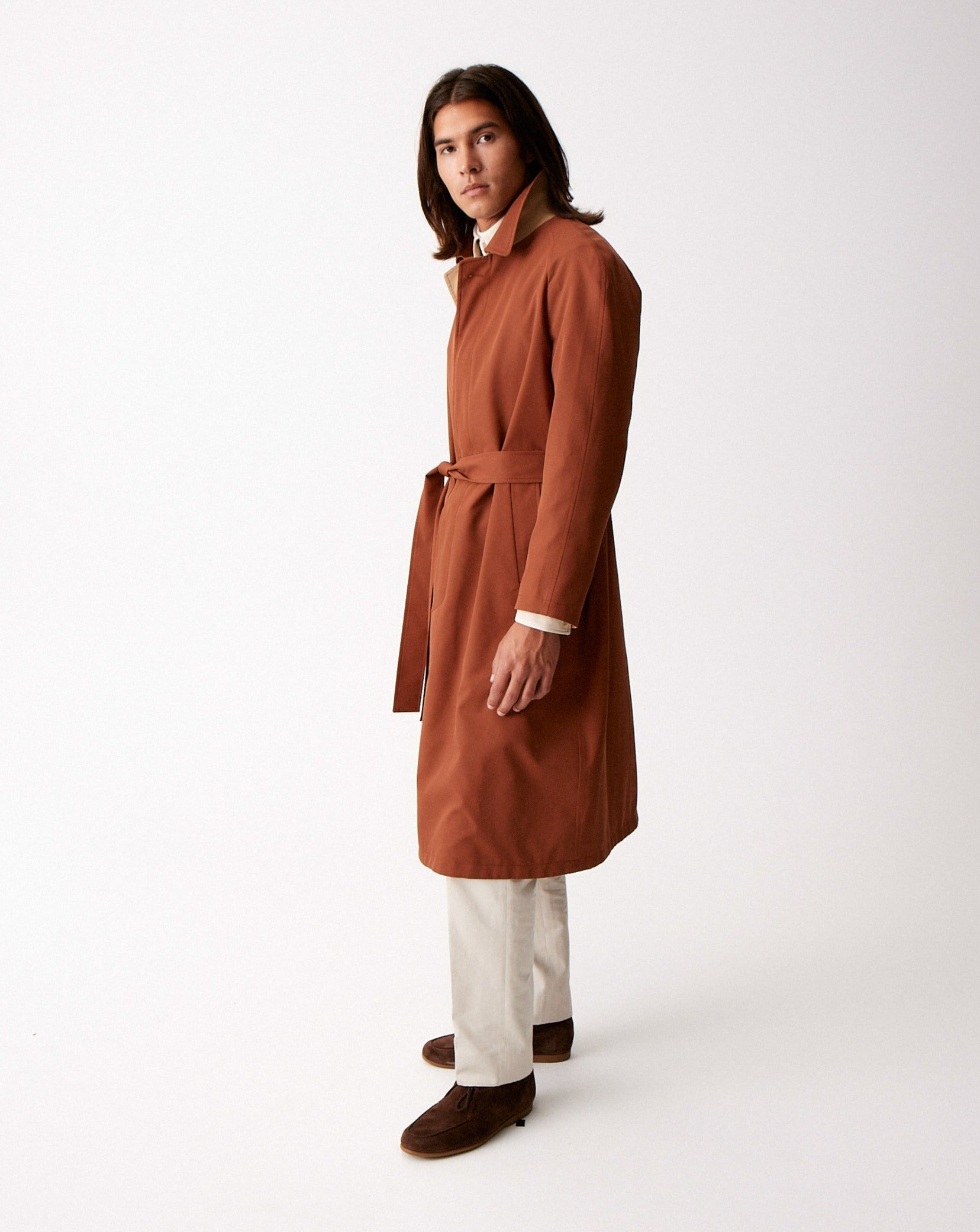 Paprika Single Breasted Raglan Overcoat