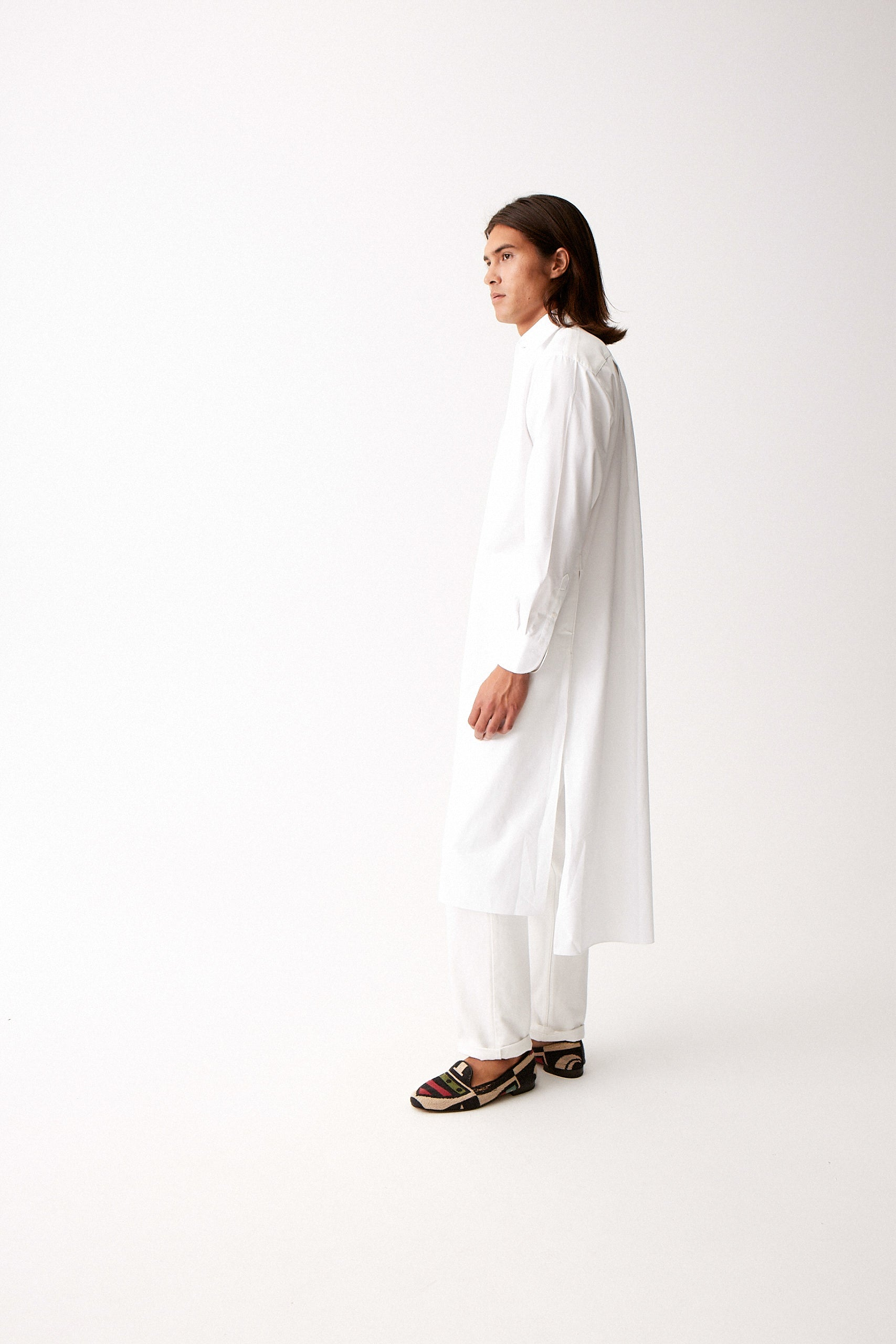 White Heavy Twill Tunic