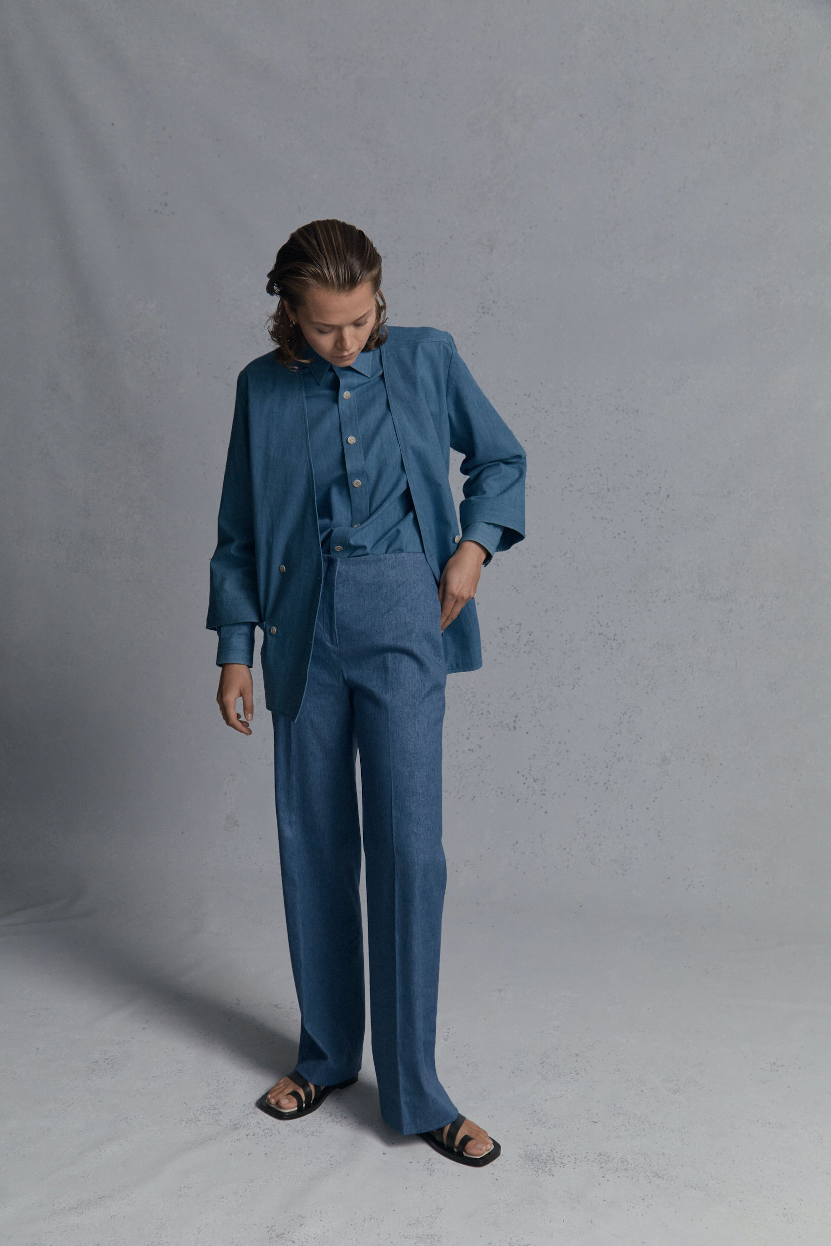 Blue Denim Augusta Trousers
