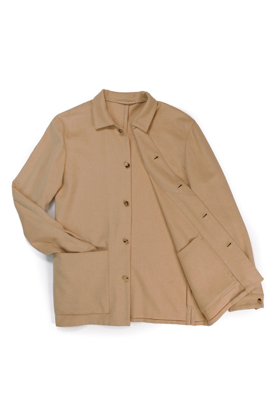 Baby Camelhair Shirt Jacket
