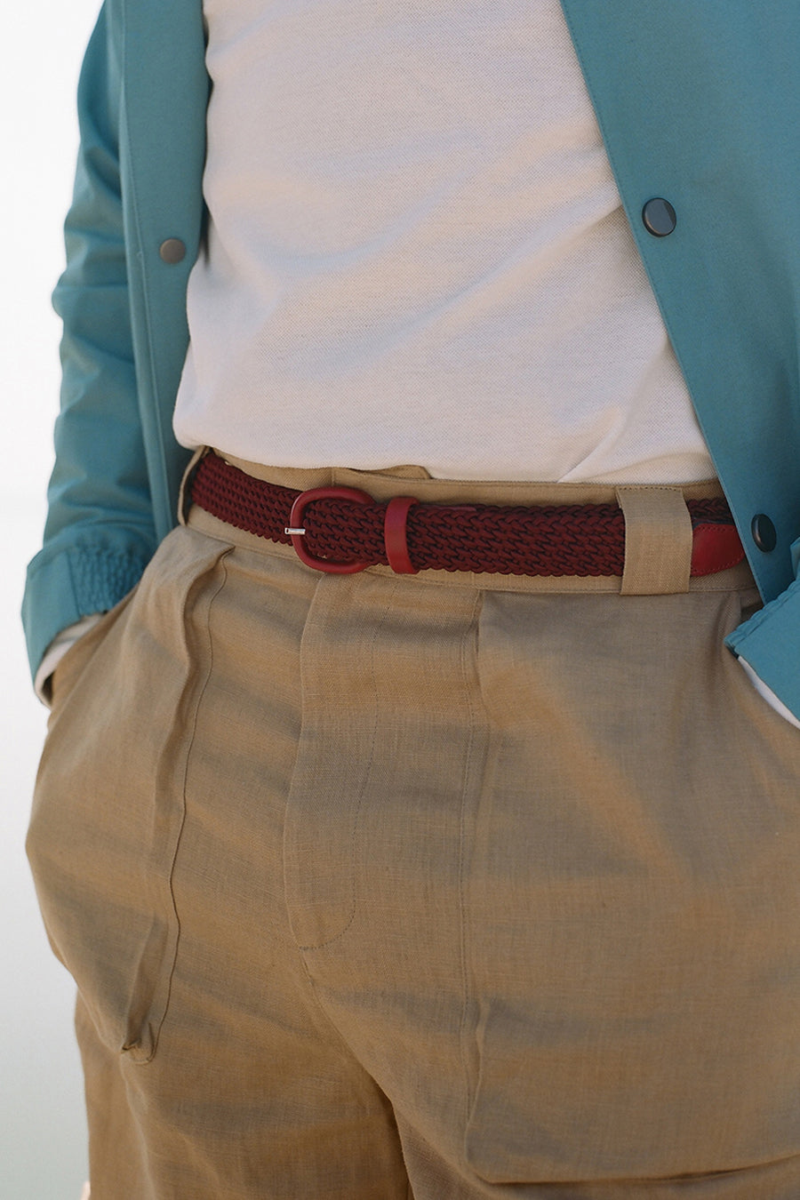 Burgundy Elasticated Belt
