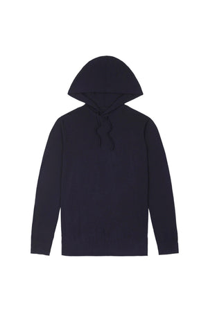 Navy Merino Hooded Jumper