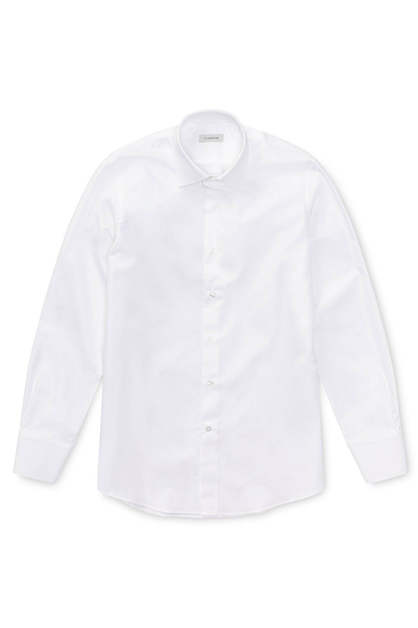 P Johnson Classic White Twill Shirt