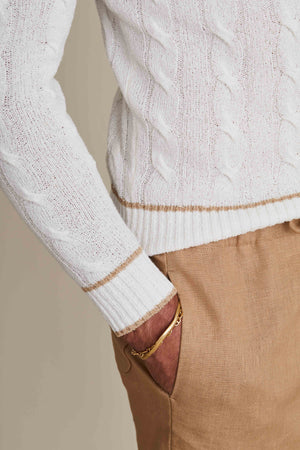 Cream Cricket Sweater