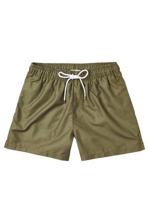 Solid Military Green Swimmers