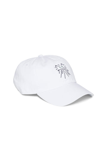 Carrara White Shortstop Cap with Navy Vesuvio
