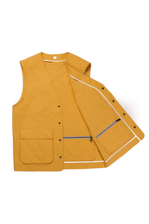 Yellow Weatherproof Utility Vest