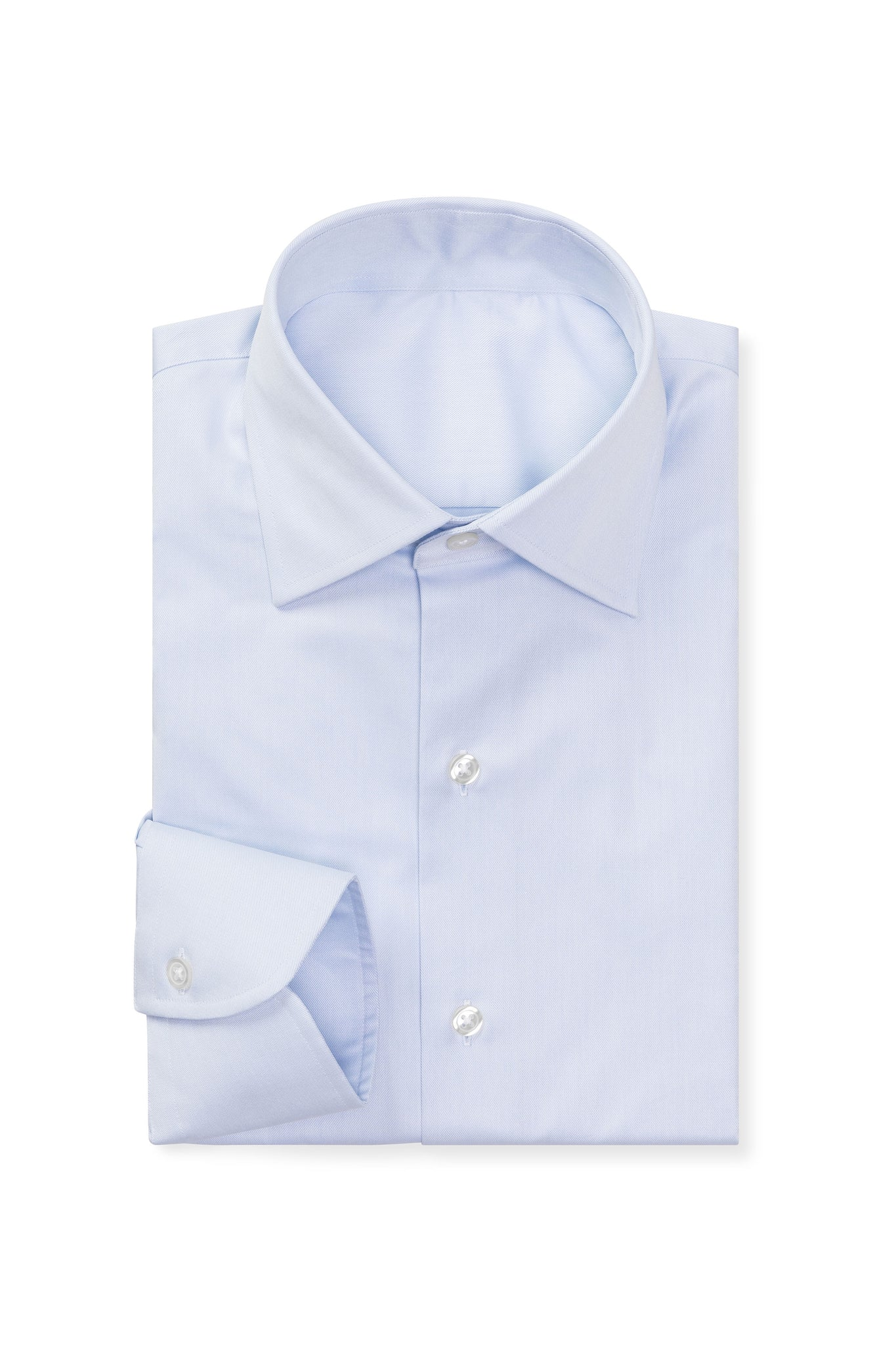 Classic Ice Blue Twill Made to Order Shirt
