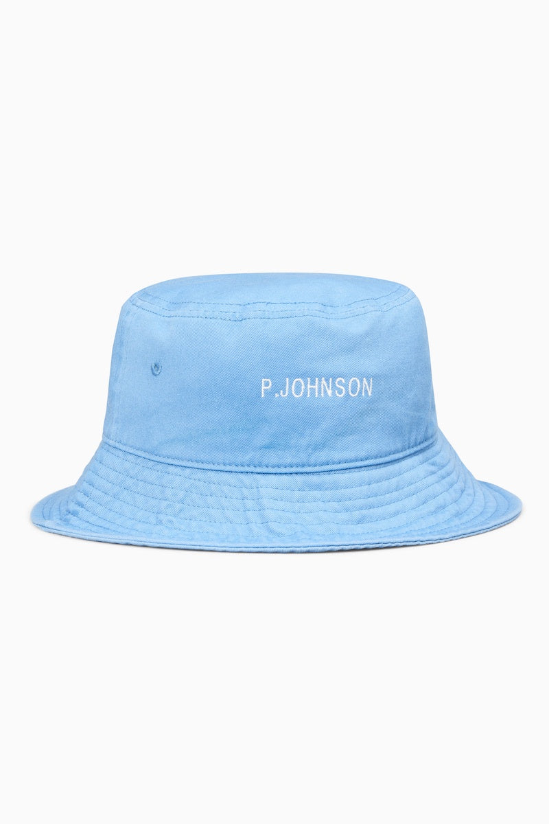 Harbour Blue Bucket Hat with White Logo