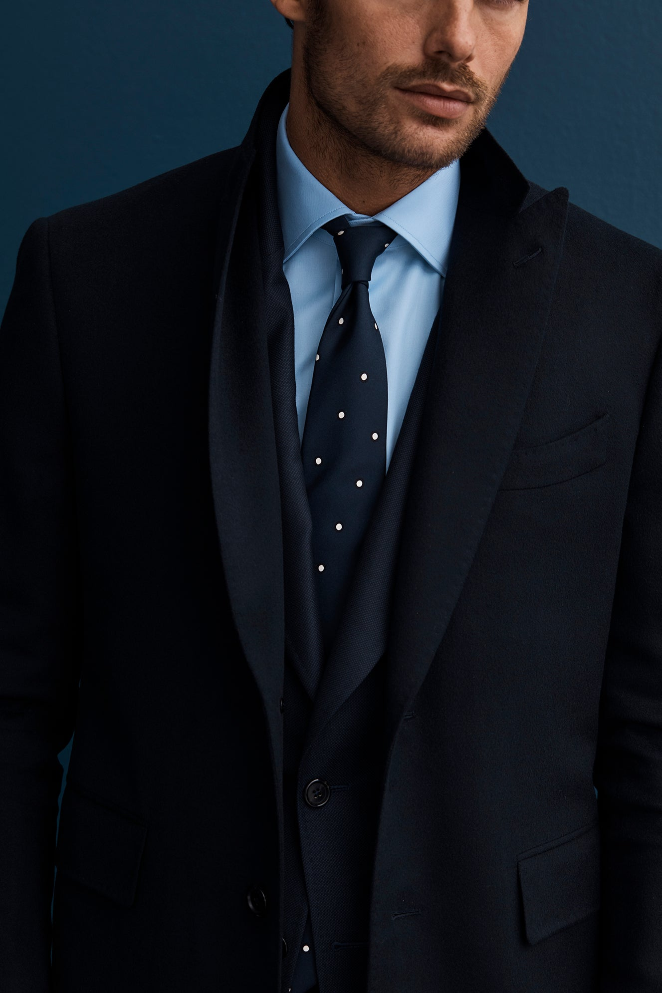 White Dots on Navy Base Tie