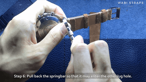 Secure Springbar and Strap onto Watch