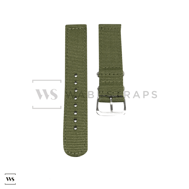 Army Green Basic Two Piece NATO Strap Front