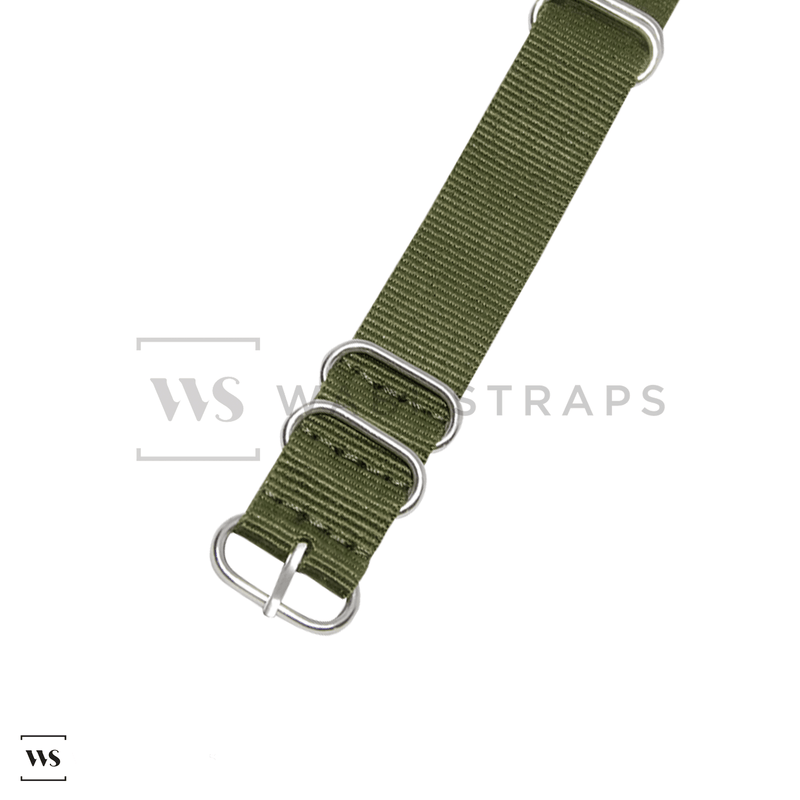 Army Green Military ZULU Strap Round