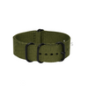 Army Green Plain ZULU Strap (Black Buckle) Round