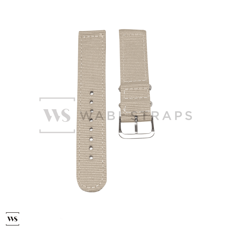 Beige Basic Two Piece NATO Strap Front