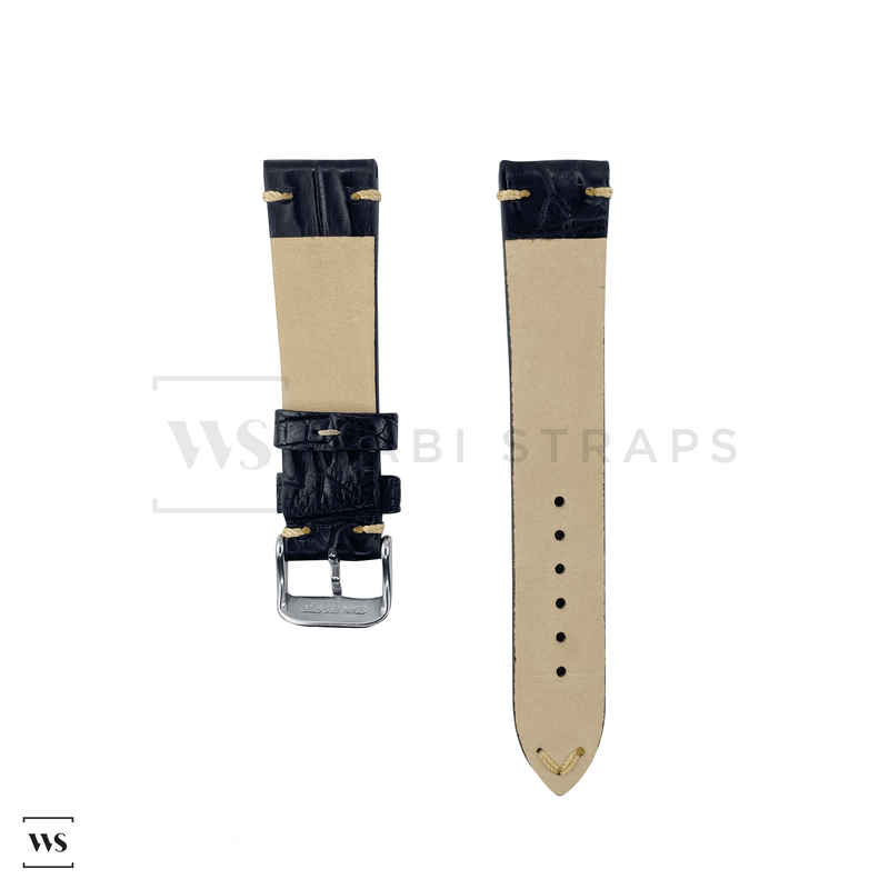 Black Bamboo Vintage Leather Strap