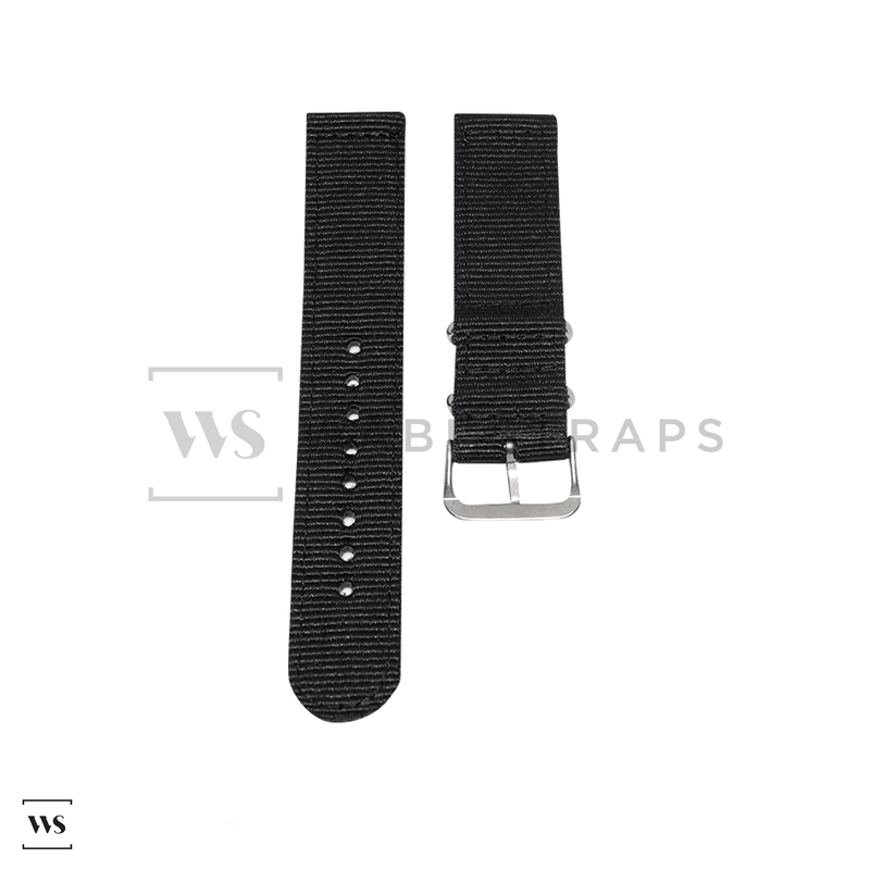 Black Basic Two Piece NATO Strap Front