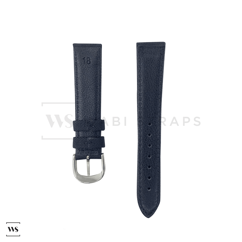 Black Kevlar Leather Watch Strap Front