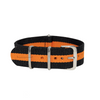 Black & Orange Classic NATO Strap Round