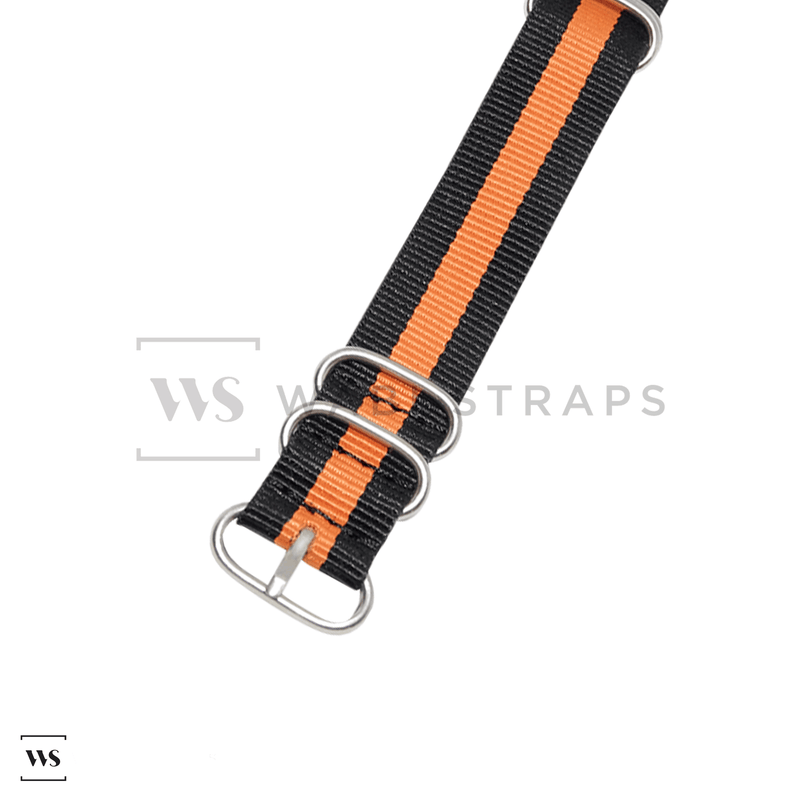 Black & Orange Striped ZULU Strap