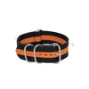 Black & Orange Striped ZULU Strap Round