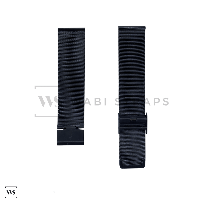 Black Milanese Watch Band Round