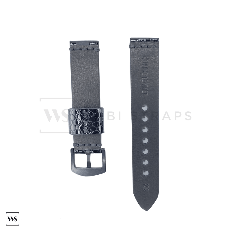 Black Stingray Rubber Watch Band Front