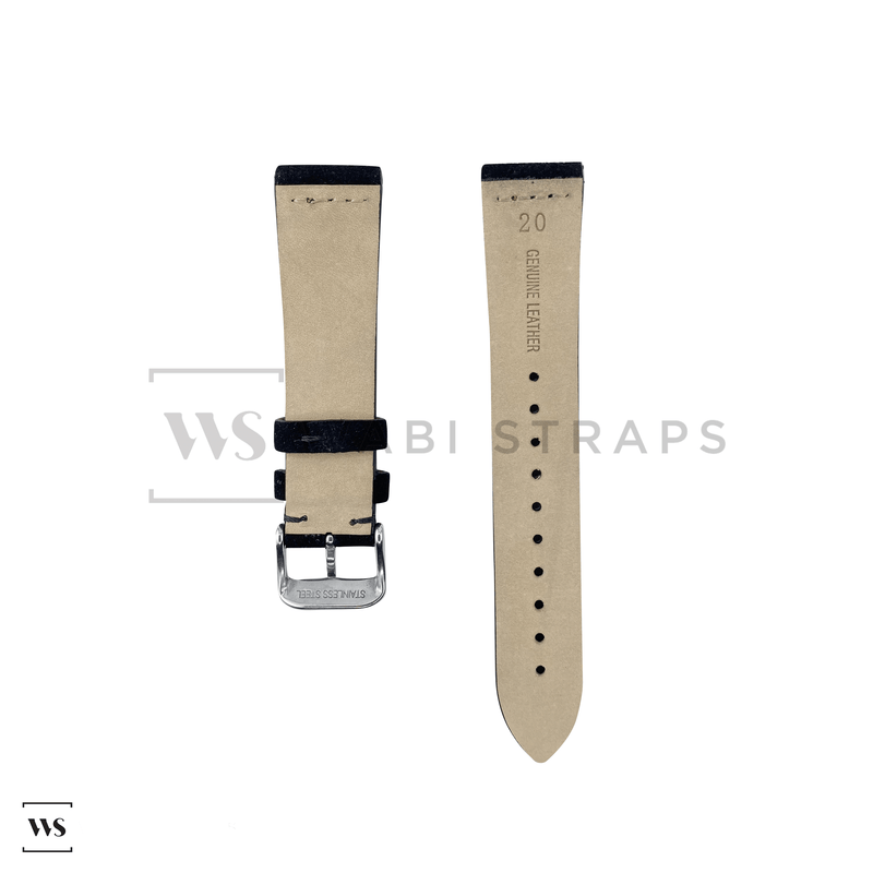 Black Suede Watch Strap Front