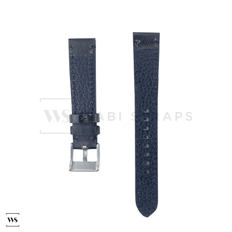 Black Thick Leather Watch Strap Front