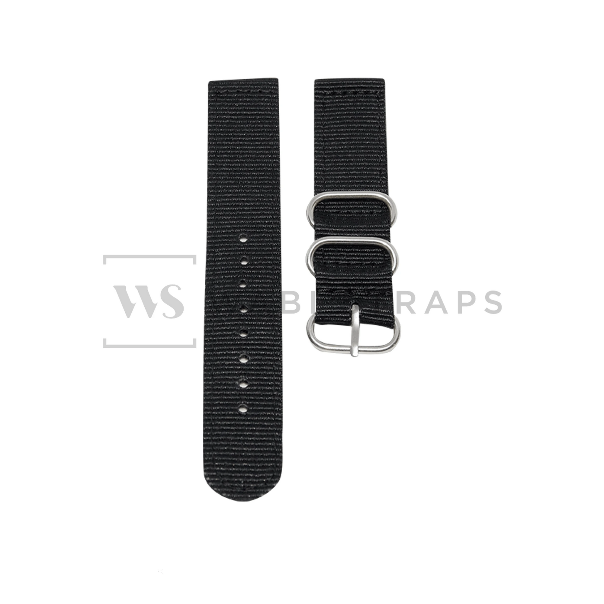 Black Basic Two Piece ZULU Strap Front