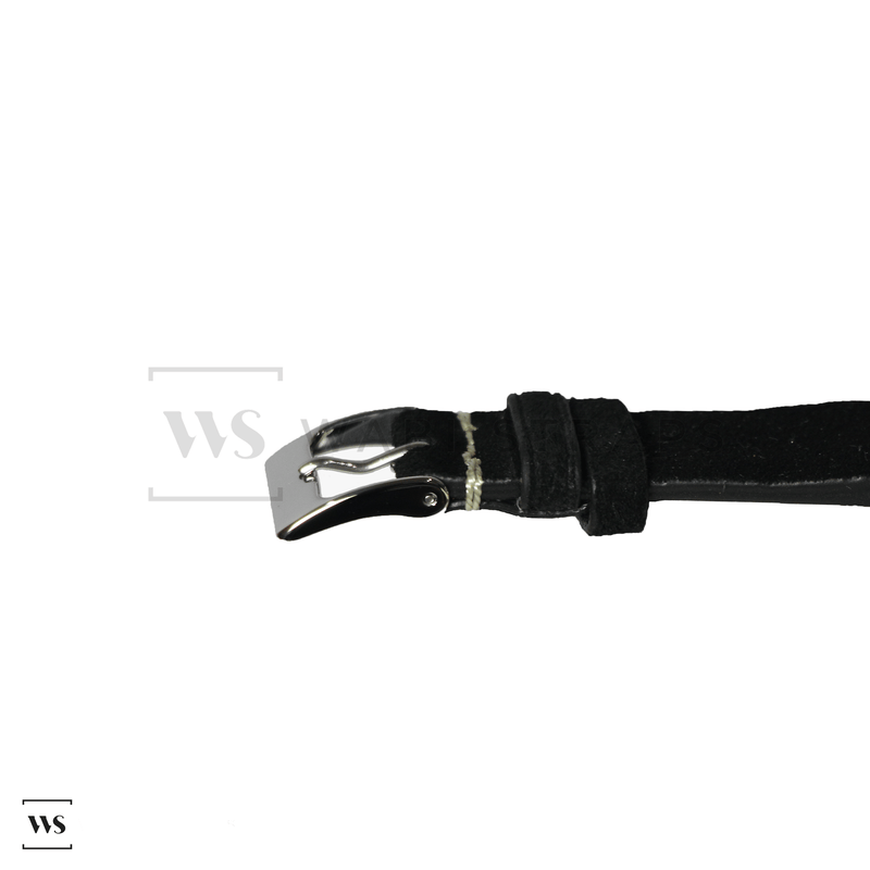 Black Velvet Watch Strap Front