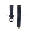 Black Vintage Leather Watch Strap Front