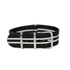 Black & White Regimental NATO Strap Round