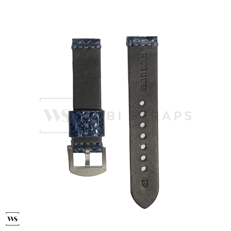 Blue Gecko Rubber Watch Band Front