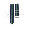 Blue & Green Two Piece NATO Strap Front