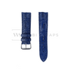 Blue Hornback Alligator Leather Strap Front