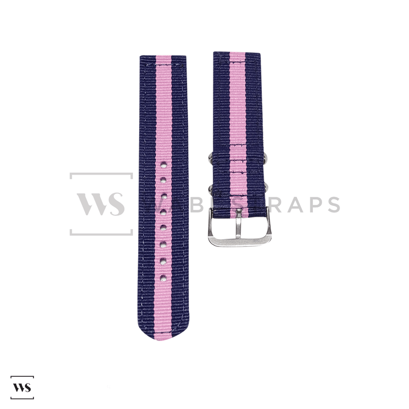 Blue & Pink Two Piece NATO Strap Front