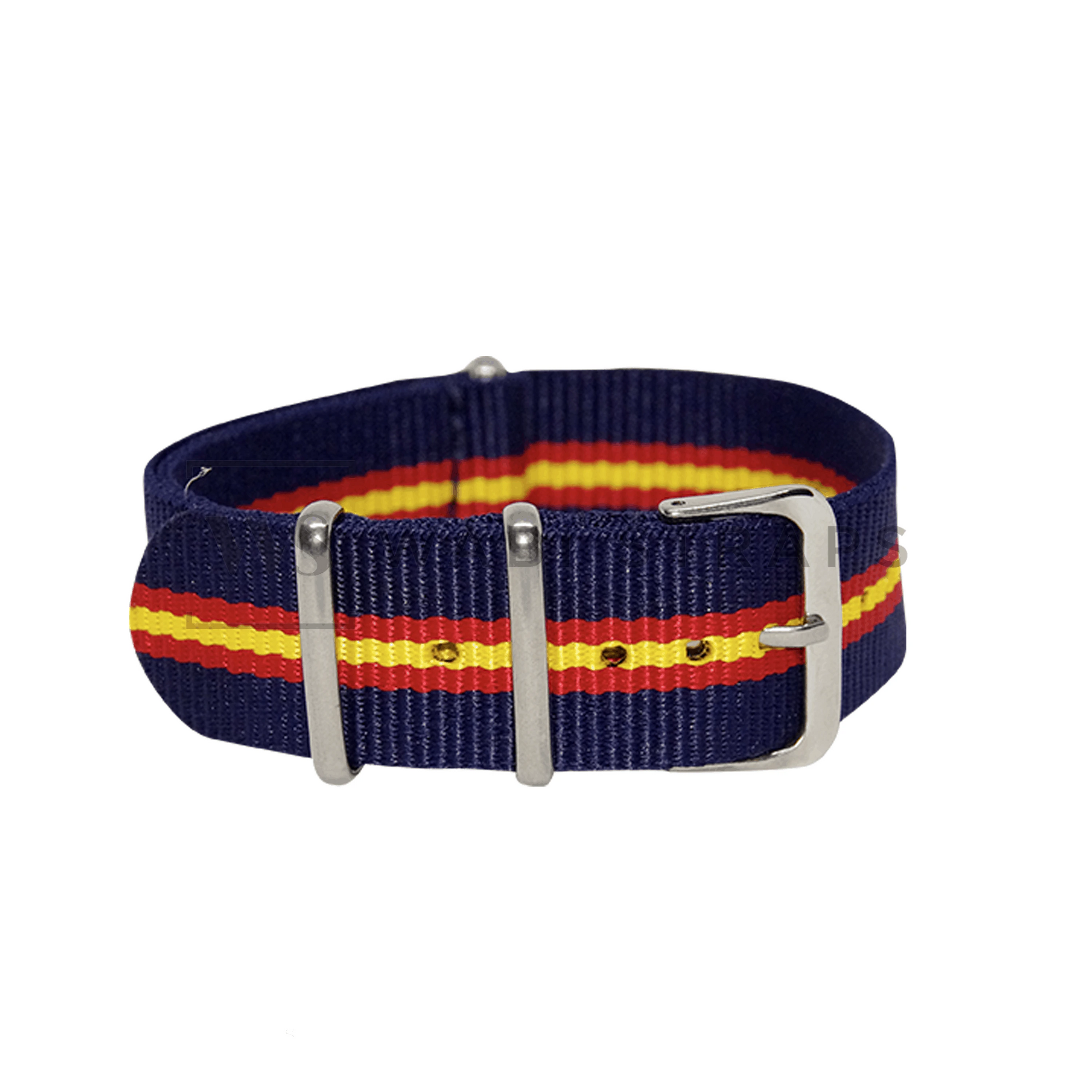 Blue, Red & Yellow Regimental NATO Strap Round