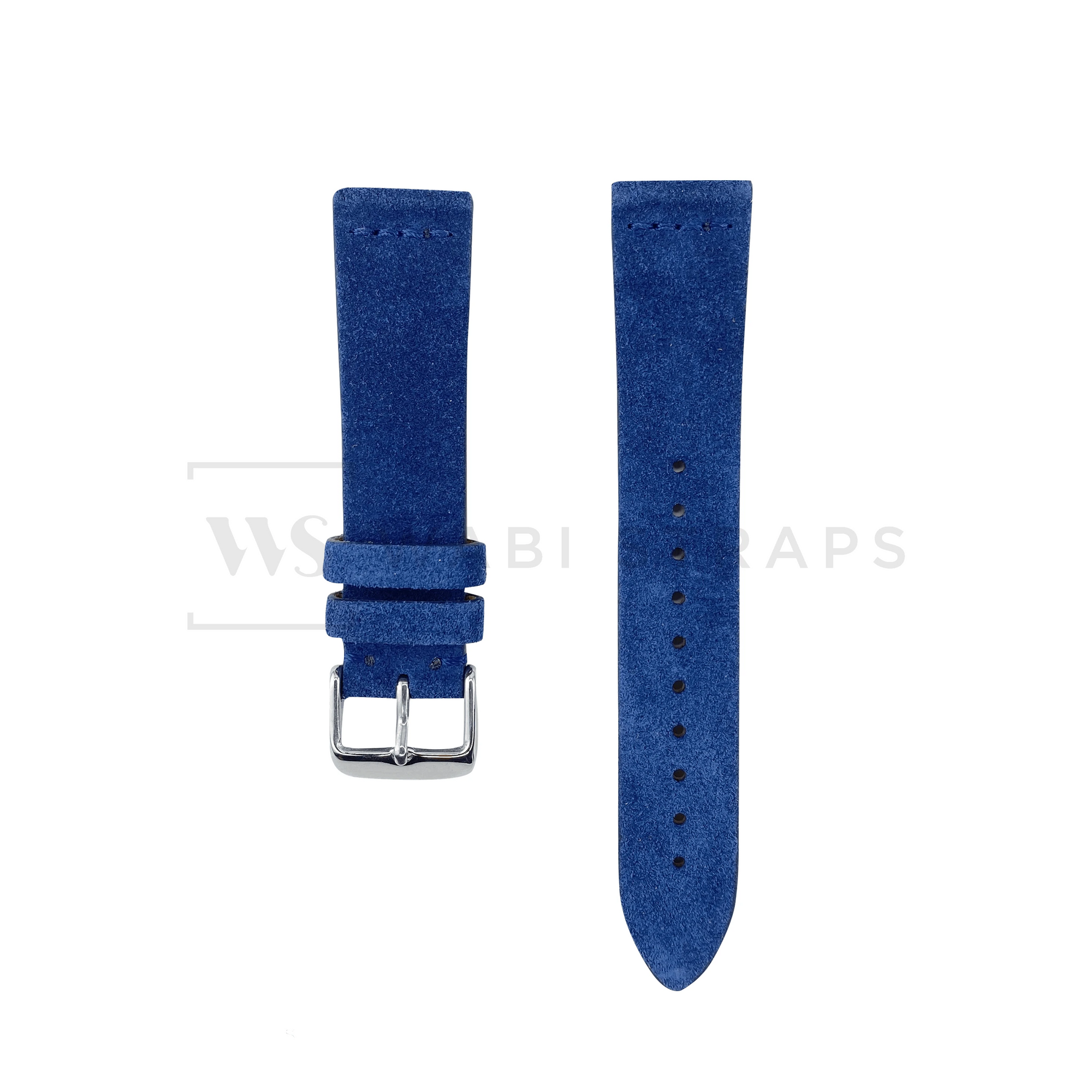 Blue Suede Watch Strap Front