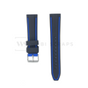 Blue Trim Silicone Waterproof Strap Front